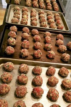 Jen's Incredible Baked Meatballs have been a reader and family favorite for years! # beef meatball recipes Jen's Incredible Baked Meatballs – The Fountain Avenue Kitchen Easy Baked Meatballs, Ground Beef Meatballs, Best Meatballs, Bake Meatballs In Oven, Easy Homemade Meatballs, Healthy Beef Meatballs, Baked Italian Meatballs, Recipe For Meatballs, Homemade Meatball Recipes