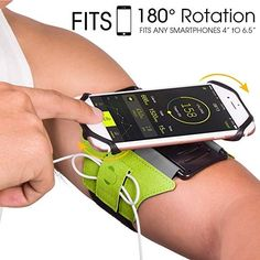 Rotatable Holder Phone Hiking Walking Running Armband Cord Holder, Household Chores, Velcro Straps, Protective Cases, Apple Watch, Smart Watch, Smartphone, Hiking, Running