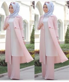 Kleidung Hijab - Blue Page Hijab Outfit, Hijab Style Dress, Hijab Chic, Abaya Mode, Mode Hijab, Muslim Women Fashion, Islamic Fashion, Abaya Fashion, Fashion Dresses