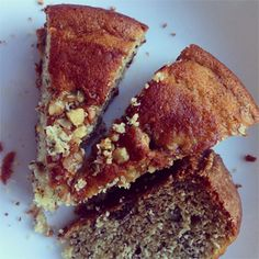 Delicious moist and super soft banana bread with walnuts and almonds