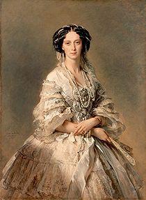 Retrato de la emperatriz María Aleksándrovna, esposa del zar Alejandro II de Rusia (1857)