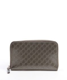 Gucci bronze guccisimma patent leather zip continental wallet | BLUEFLY up to 70% off designer brands
