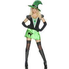 Costume femme sorcière chat noir