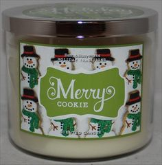 Bath & Body Works Merry Cookie Candle