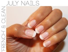 Always a clean, classic look. And these nails really have a great shape....not too square, round or pointy