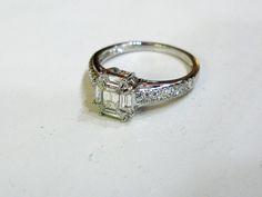 A modern beauty.  #emeraldcut #diamond #wedding