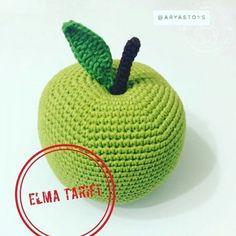 Amigurumi Apple Recipe - New Pin Crochet Dolls Free Patterns, Loom Patterns, Amigurumi Patterns, Amigurumi Doll, Knitting Patterns, Crochet Fruit, Crochet Food, Crochet Gifts, Crochet Motif