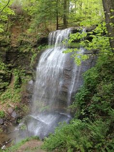Buttermilk Falls, Indiana County, Pennsylvania.  At 46 feet, this is the tallest waterfall in western Pennsylvania.