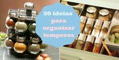 20 ideias para organizar temperos