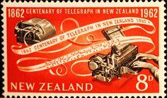 Centenary of Telegraph in New Zealand, 1962, New Zealand, modern teleprinter