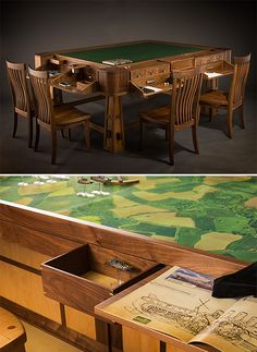 Convertible Gaming Tables ($2,000-13,000) for playing board games such as Scrabble, Parcheesi, D&D and such, also card games such as Blackjack, Poker (any).