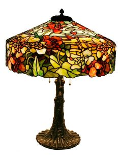 This Duffner & Kimberly 22-inch #508 modern floral table lamp with a rare leaded shade is expected to bring between $50,000 and $75,000.