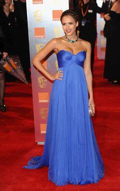 jessica alba, love this dress -- the color especially