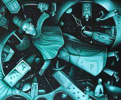 Between Thusday and Wednesday by Eugene Ivanov. #eugeneivanov #steampunk #science #fiction #fantasy #machinery #victorian #illustration #art #original  #@eugene_1_ivanov