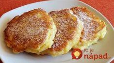 My ich voláme jablkové palacinky, ale cesto sa skôr ponáša na to lievancové. Každopádne, vďaka jablkám sú úžasne šťavnaté a chutné. Ak doma nájdete 2 jablká, pustite sa do nich! Potrebujeme: 250 g hladkej múky 100 ml mlieka 30 Griddle Cakes, Czech Recipes, Homemade Soup, Omelette, Ham, Cravings, Cake Recipes, Pancakes, French Toast