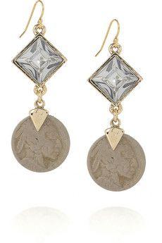Lulu Frost Glass Crystal Coining Earrings $140