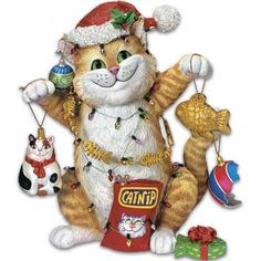 Gary Patterson Cats | Collectibles » Christmas Cat-astrophe Figurine by Gary Patterson