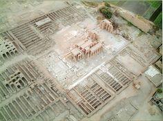 Vista aérea del Ramesseum.