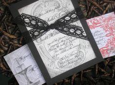 Vintage Calligraphy Wedding Invitation by Designs by Robyn Love www.designsbyrobynlove.com or www.designsbyrobynlove.etsy.com