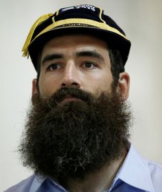 They might not win the tournament, but flanker Josh Strauss may at least have claimed the biggest beard title for Scotland this year. So there's something. Picture: Reuters