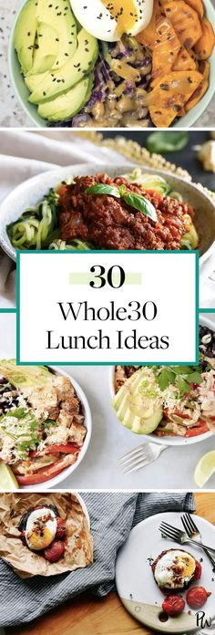 These Whole30 lunch ideas are super tasty and ready in almost no time. Get all the healthy recipes here. #whole30 #whole30lunches #worklunches #lunchideas #easylunches #healthylunches #lunchideas #lunchrecipes #whole30recipes