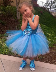 ELSA TUTU DRESS  Frozen dress  Frozen Birthday  by SparkleToes3, $45.00