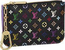 key pouch in monogram multicolore black by louis vuitton