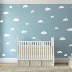 Clouds Wall Sticker Baby Nursery Cloud Wall Decal DIY Children Wall Decors Easy Wall Stickers Kids Room P23