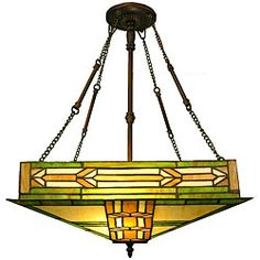 Tiffany-style Mission Ceiling Fixture - keeping with the style of the house?