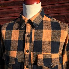 Freewheelers Stromberg Shirt. (made in japan, union special, buffalo check)