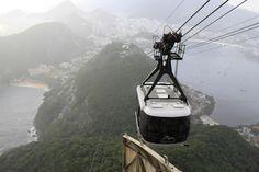 Riding the Cable Car in Rio de Janeiro, Brazil