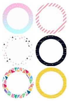 이름표로 사용해도 좋고, 얼굴 사진 넣어서 사용해도 좋고, 메모지 또는 제목판으로 사용해도 좋은 색깔 동... Printable Name Tags, Diy And Crafts, Crafts For Kids, Puppets For Kids, Spice Labels, Kids Background, Cute Patterns Wallpaper, Class Decoration, Simple Doodles
