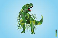 Dinosaur geometric illustration