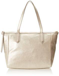 Fossil Sydney Shopper Shoulder Bag,Metallic Gold,One Size Fossil Handbags, Best Bags, Sydney, Michael Kors, Metallic Gold, Tote Bag, Wallet, Purses, My Style