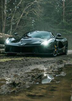 Ferrari Laferrari in the mud