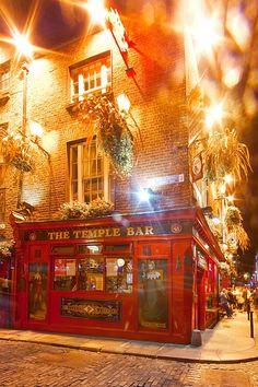 The famous Temple Bar, Dublin, Ireland