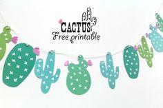 Free cactus printables - Kaktus - round-up Printable Banner, Printable Planner Stickers, Templates Printable Free, Free Printables, Deco Cactus, Cactus Decor, Cactus Flower, Flower Bookey, Flower Film