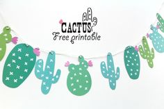Guirlande cactus à imprimer