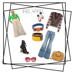 """""""Style Icon: Iris APFEL"""" by mpisani on Polyvore featuring Off-White, Missoni, Proenza Schouler, Marni, Isabel Marant, Alice + Olivia, Lizzie Fortunato and Chloé"""