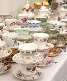 Vintage china cups from My Fair Vintage