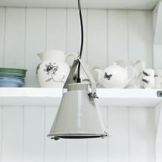 Utilitarian Hanging Light - Pale & Interesting