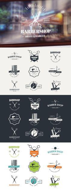 Barber shop logo elements. Premium Icons. $5.00