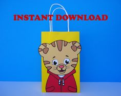 Daniel Tiger Favor Bags/ Daniel Tiger Party Bags/ Daniel Tiger Birthday Party Favors/ Goodie/ Goody/ Loot/ Candy/ Treat/ Gift/ Bags/ Boxes #babyshowerideas4u #birthdayparty  #babyshowerdecorations  #bridalshower  #bridalshowerideas #babyshowergames #bridalshowergame  #bridalshowerfavors  #bridalshowercakes  #babyshowerfavors  #babyshowercakes