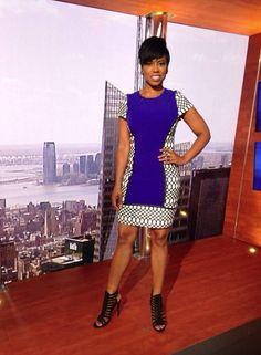 Our host Jacque Reid loving this look by Bariano Australia!  #NewYorkLive #Fashion #BarianoAustralia