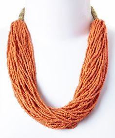 Another great find on #zulily! Orange Layered Bead Necklace #zulilyfinds