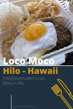 Loco Moco is a classic Hawaiian food that you must experience! I share the local history and different varieties as well as where to get loco moco in Hilo on the island of Hawaii, San Francisco and beyond. Island Beach, Big Island, Hawaii Vacation Tips, Loco Moco, In Loco, Maui Travel, Local History, Hawaiian, San Francisco