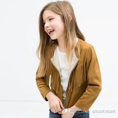Princess Western Fashion Babies Girls Tassels Jackets Christmas Kids Girls Candy Color Lining Zipper Outwears Christmas Party Clothing Online with $16.7/Piece on Smartmart's Store   DHgate.com