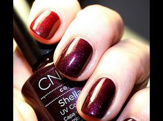 This is my go to fall color - CND Shellac Dark Lava