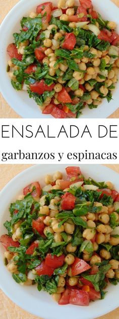 Chickpea and spinach cold salad - Tasty Recipe det .- Chickpea and spinach cold salad - Raw Food Recipes, Veggie Recipes, Mexican Food Recipes, Salad Recipes, Vegetarian Recipes, Cooking Recipes, Healthy Recipes, Healthy Snacks, Healthy Eating