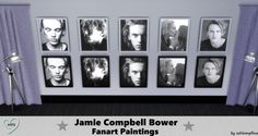 Jamie Compbell Bower Paintings